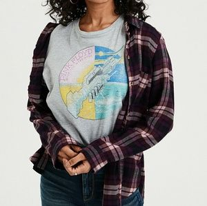 AEO Sz. M Top Boyfriend Fit Plaid Flannel Ahh Soft